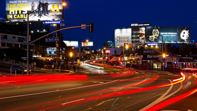 The Sunset Strip in West Hollywood, California