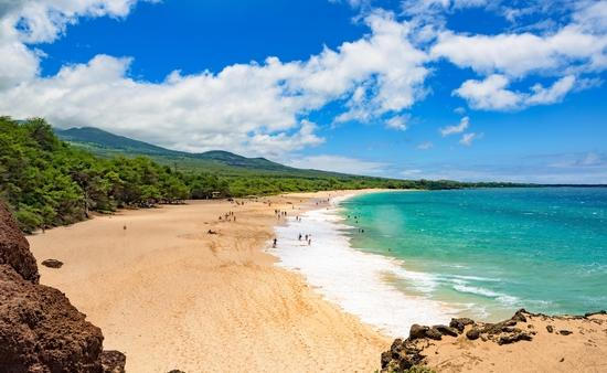 Big Beach at Makena State Park south of Wailea, Maui, Hawaii