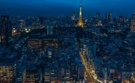 Night-time in Tokyo