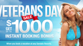 Honoring all those who serve, book a vacation at any Sandals Resort and enjoy up tp $1000 as an Instant Booking Bonus