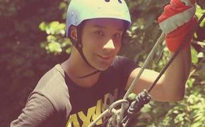 Carlos Castro, travel research specialist with Bayside Travel in Bronxville, New York, waterfall rappelling in Costa Rica