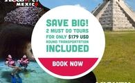 Save Big!  Xcaret and Chichén Itzá for $168 USD