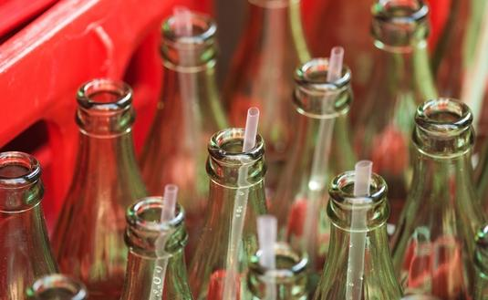 Coke Bottles with Straws