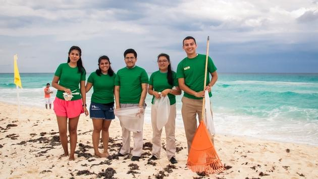 Playa Hotels & Resorts clean up crew