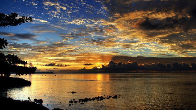 Sunset view from Upolu, Samoa