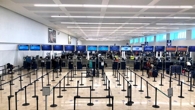 Check-in at Cancun International Airport