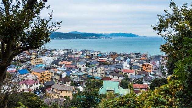 Japan, Kamakura, sea