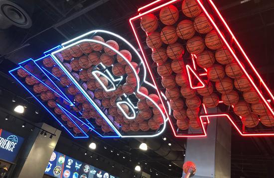 NBA display at Disney Springs' NBA Experience