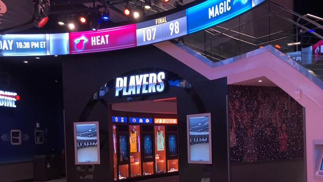 The Players hall at Disney Springs' NBA Experience