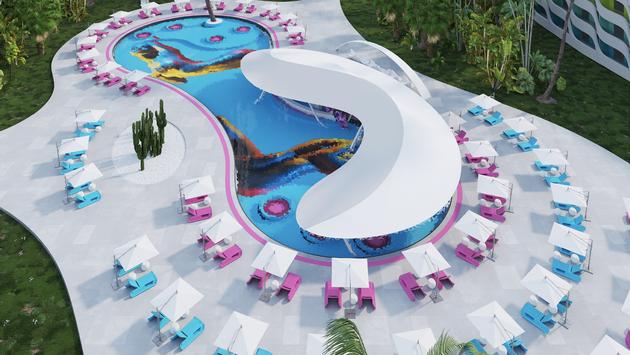 Pool, Temptation Miches Resorts