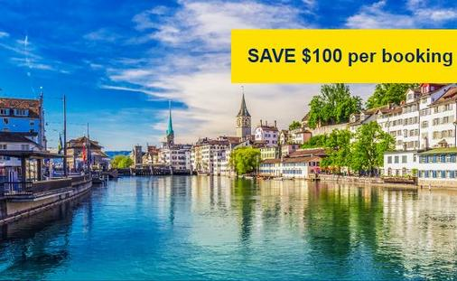 Save $100 Per Booking: Scenic Switzerland from Zurich