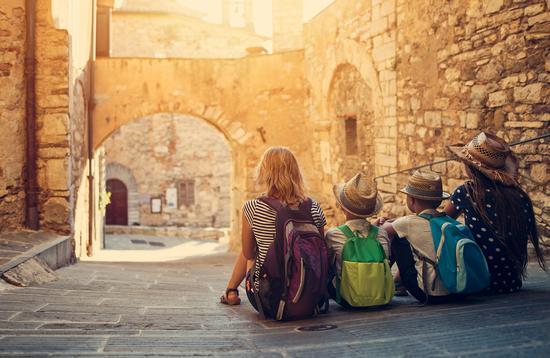 Family travel in Italy