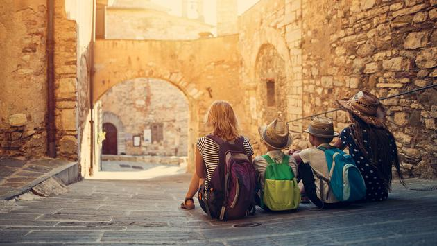 Family travel in Italy