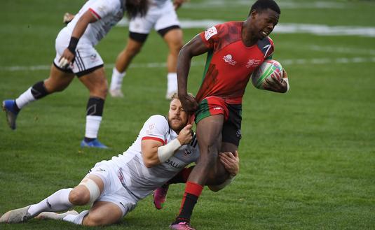 Partie de rugby, à Las Vegas.