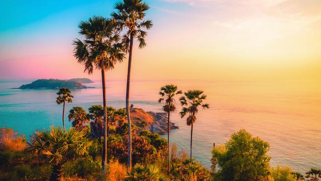 viewpoint at twilight sky in Phuket,Thailand
