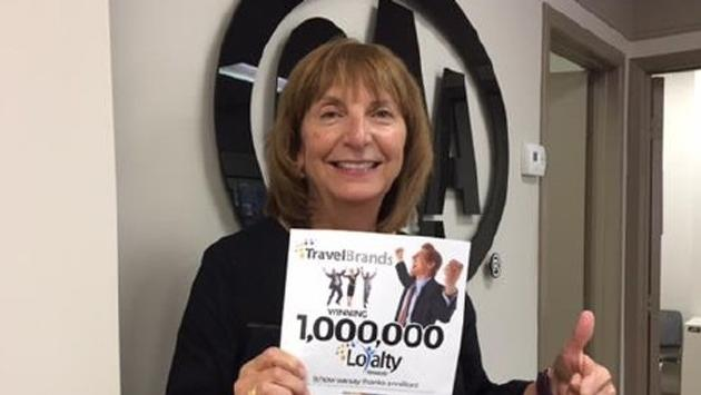 Pat Garcia of CAA Travel Welland is the latest winner of 100,000 Loyalty Rewards Points from TravelBrands in the Access booking contest.