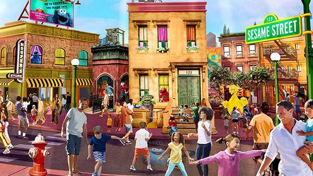 Maquette du nouveau parc d'attractions Sesame Street.
