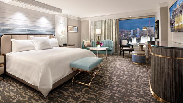 Bellagio's newly redesigned Premier Queen Room.