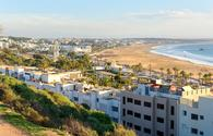 View of Beach in Agadir city, Morocco