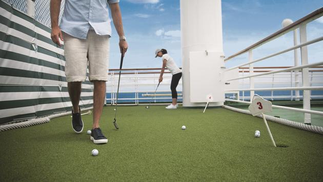 Crystal Cruises, golf