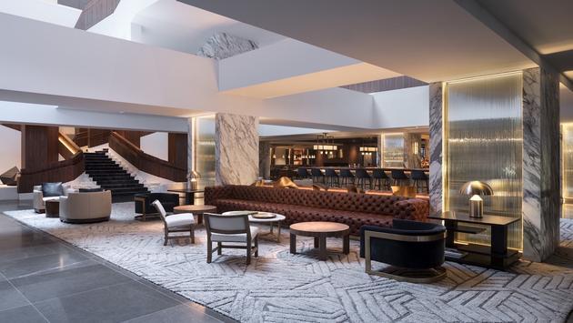 The lobby at the Four Seasons Houston