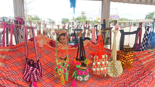 A mochila merchant in Uribia, a Wayuu town in La Guajira