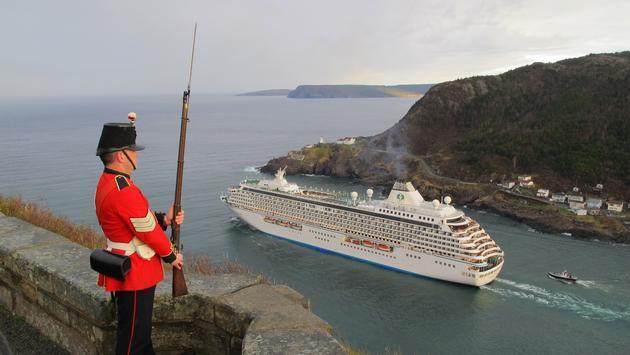Cruise Ship Departing St. John's Harbour