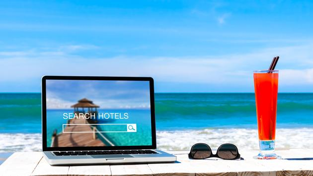 Hotel website search at the beach