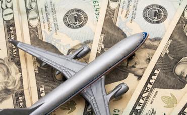 Plane model on money