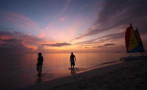 Sunset at Beaches Negril in Jamaica