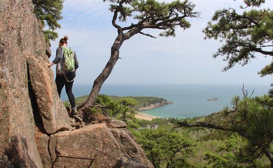 Beehive Loop, Acadia National park, hiking trail, Maine