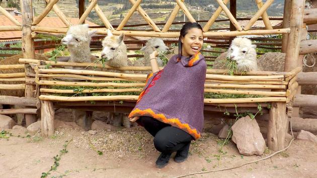Cassandra Harris, Ambassador of Change, in Peru