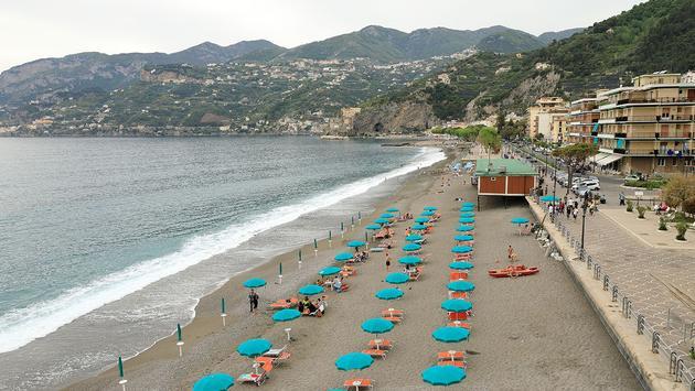 The beach of Maiori, Amalfi Coast, Italy