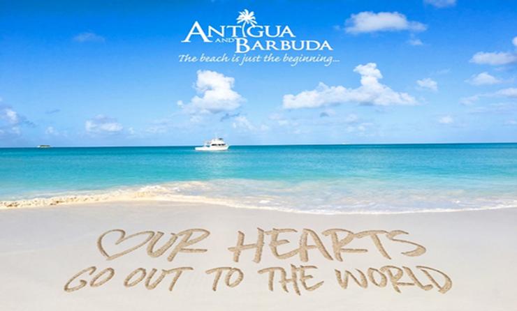 Messages dans le sable, une initiative d'Antigua-et-Barbuda