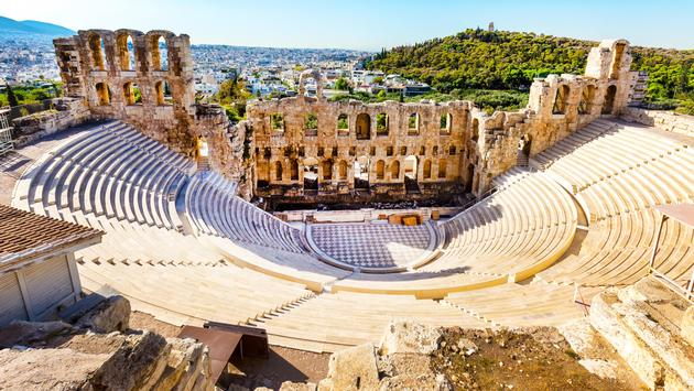 Ampitheater of Acropolis in Athens, Greece