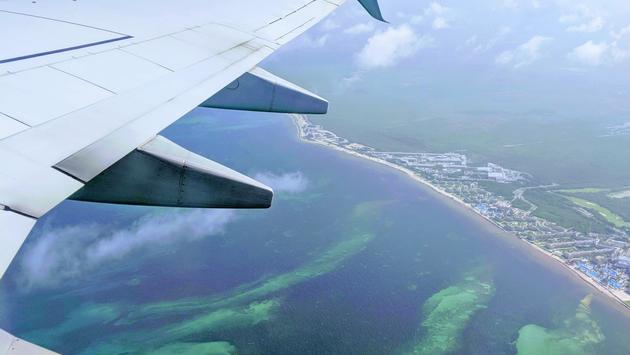 Southwest plane leaving Mexico