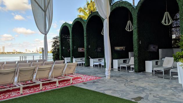 Cabana Area at The Mondrian South Beach Hotel in Miami, FL