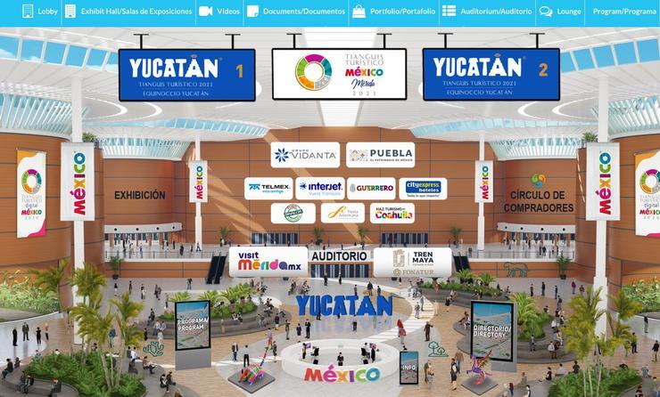 En el Tianguis Turístico Digital participan mil 964 compradores de mil 185 empresas originarias de 45 naciones. (Foto Sectur)