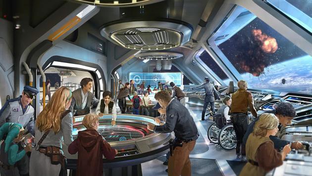 Artist rendering of the new Star Wars Hotel at Walt Disney World Resort.