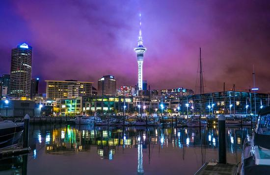 Night View at Sky Tower, Auckland