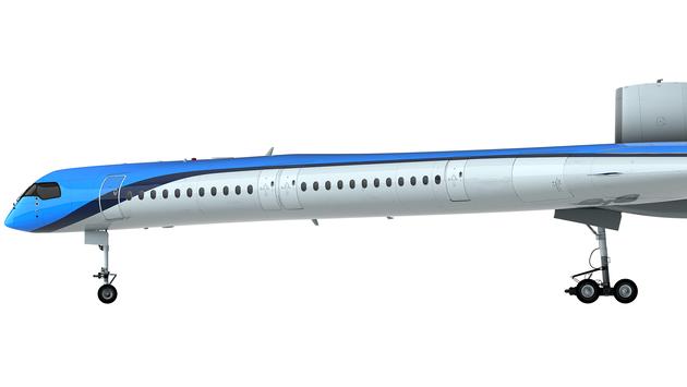 Rendering of the Flying-V passenger jet