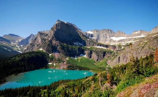 Hiking trail, Montana, Glacier National Park, Grinnell Glacier Trail