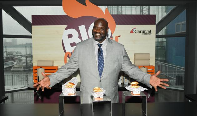 Carnival's Chief Fun Officer Shaquille O'Neal presents Big Chicken, Carnival Cruise Line