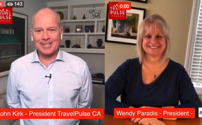 TravelPulse Canada Editor in Chief John Kirk and Wendy Paradis from ACTA