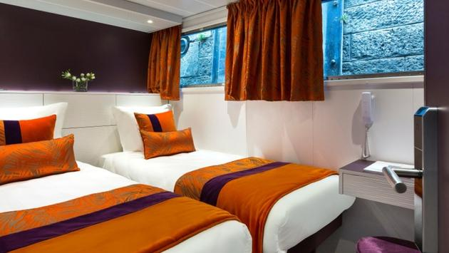 Guest room on board CroisiEurope's MS Raymonde
