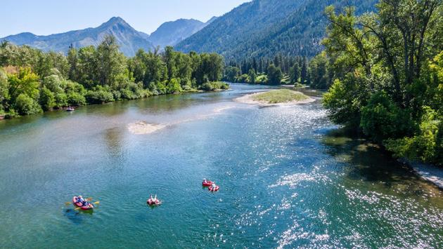 Enjoy a water tubing adventure during your next camping trip