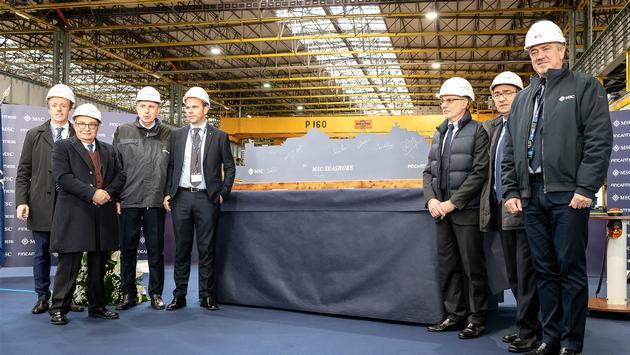 Steel-cutting for MSC Seashore