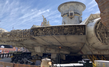 The Millenium Falcon at Star Wars: Galaxy's Edge at Disneyland