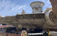 The Millenium Falcon at Star Wars: Galaxy's Edge at Disneyland