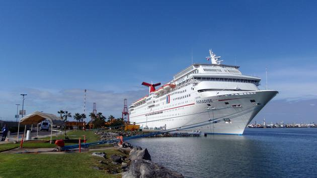 Carnival Paradise docked in Mexico, Carnival Cruise Line